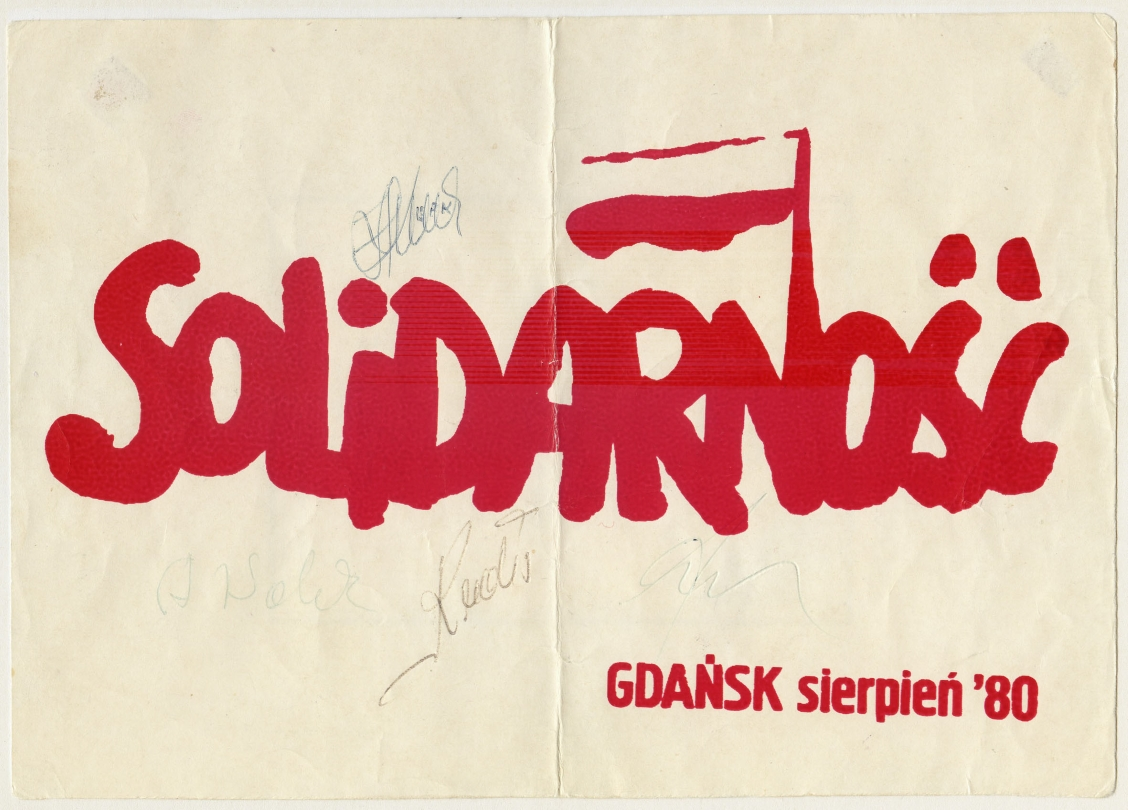 Solidarity logo by Jerzy Janiszewski (silk screen print) 1980